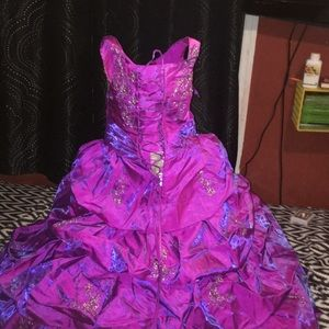 A magenta purple metallic dress